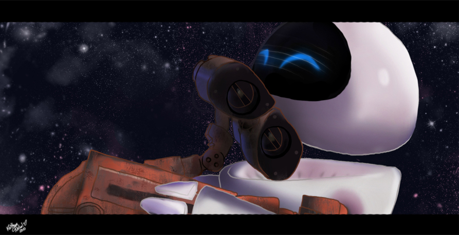 Wall E And Eve Painting