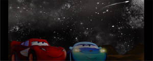 Cars. look at the stars