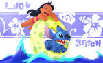 Lilo and Stitch. painted