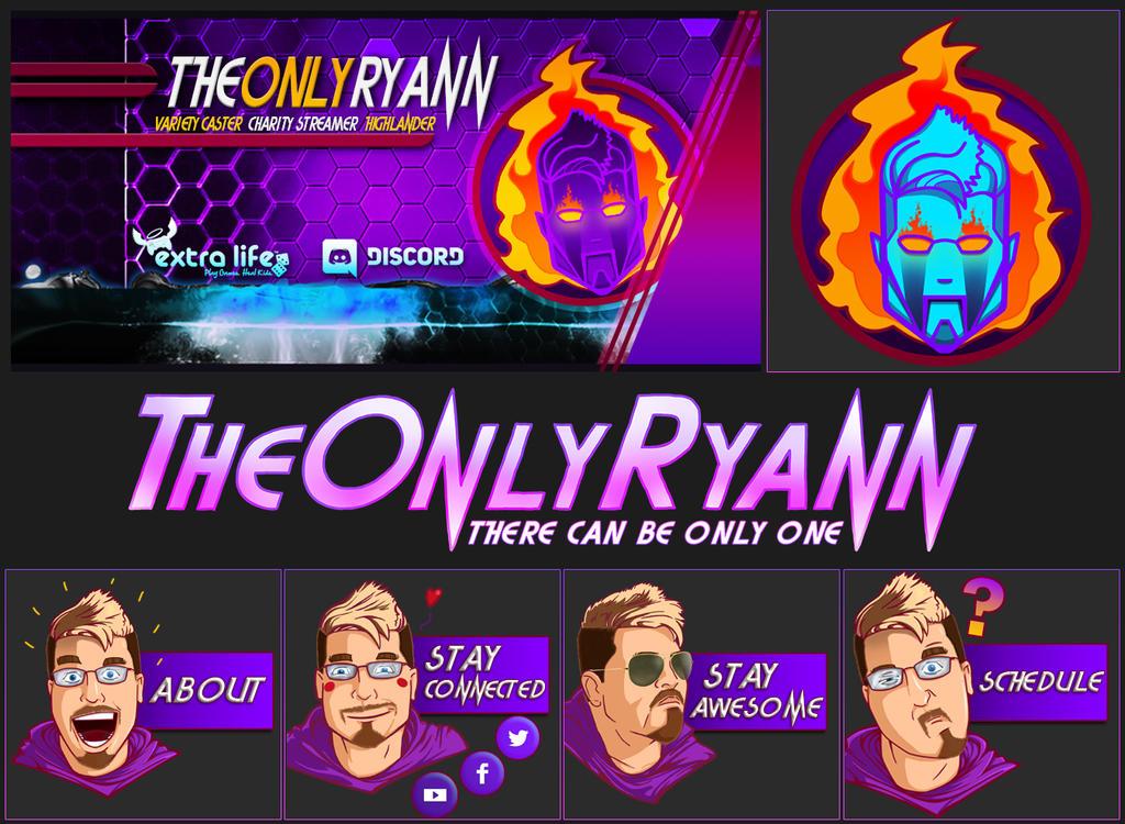 TheOnlyRyann Twitch Channel Art by IMAGINeye