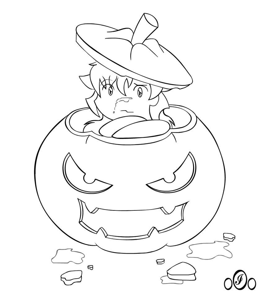 Inuyasha coloring book - Chibi Inu Halloween Time By O0oinuyashao0o
