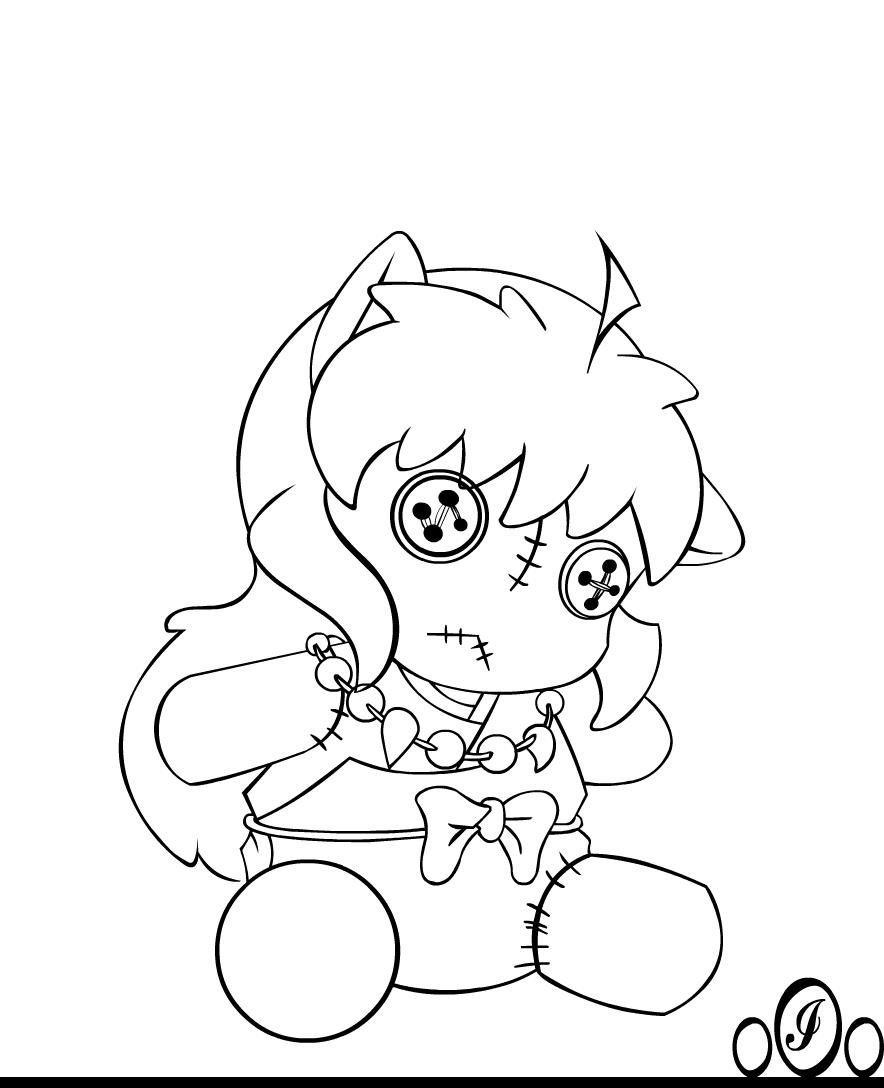 Inuyasha coloring book - Chibi Inu Forgotten By O0oinuyashao0o