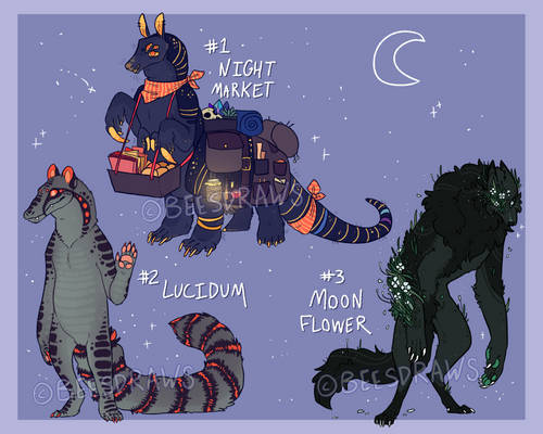 Nightime critters adopts    2 ON HOLD