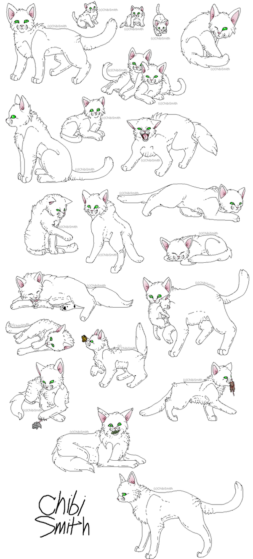 warrior cats line art ms paint