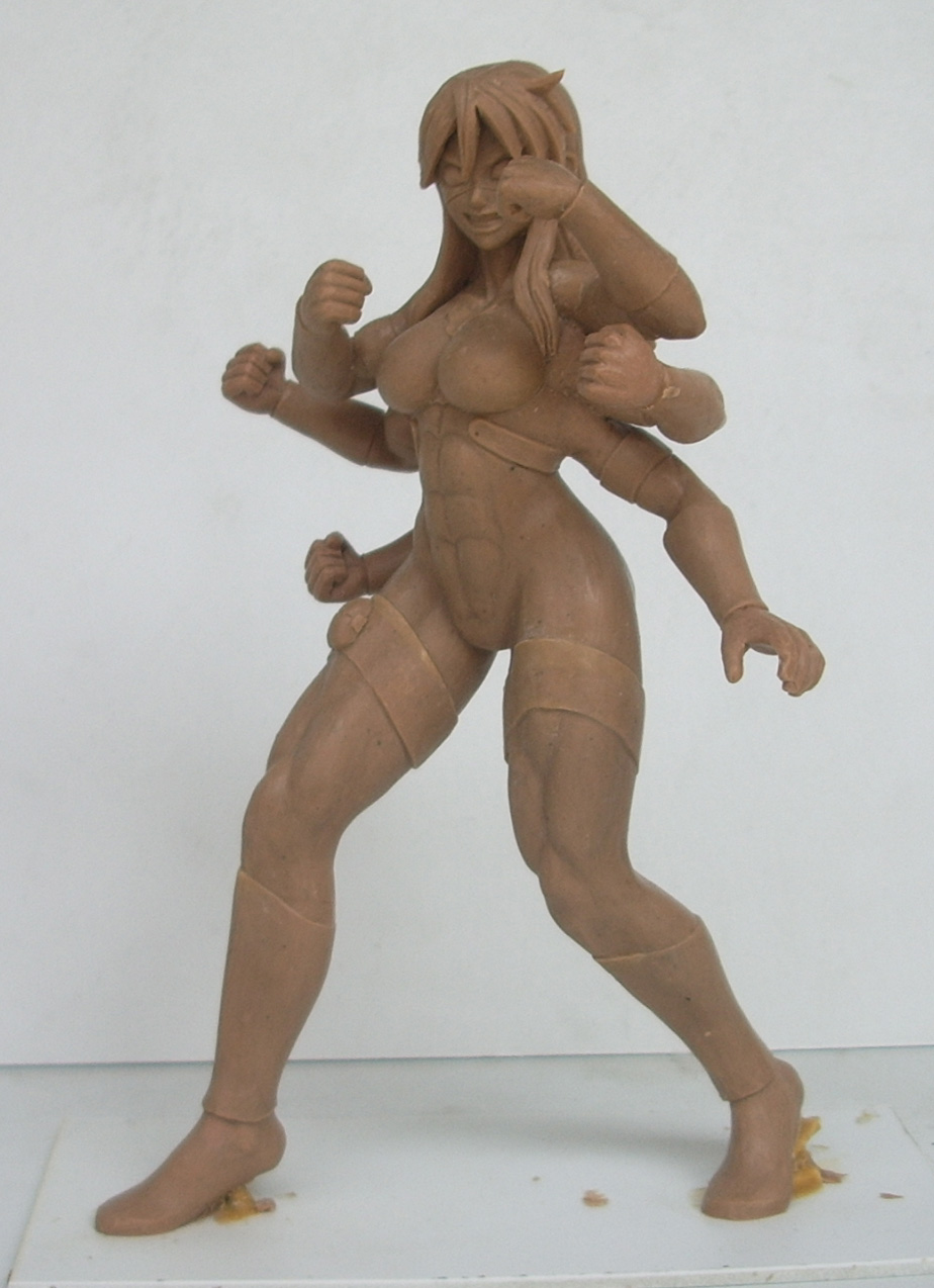 Spinnerette statue by KrazyKrow