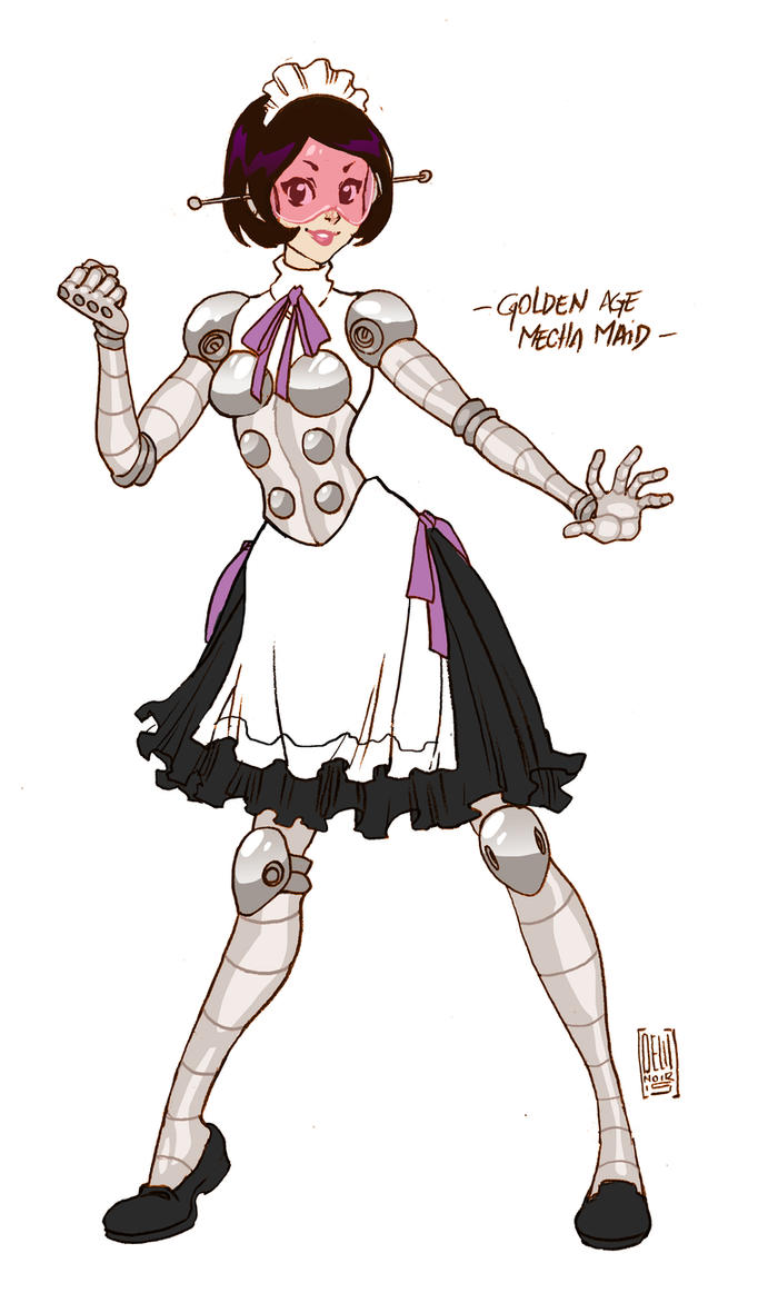 Golden Age  Mecha Maid by KrazyKrow