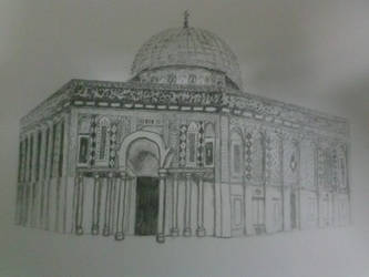 The Dome of the Rock pencil drawing by Rayleighev