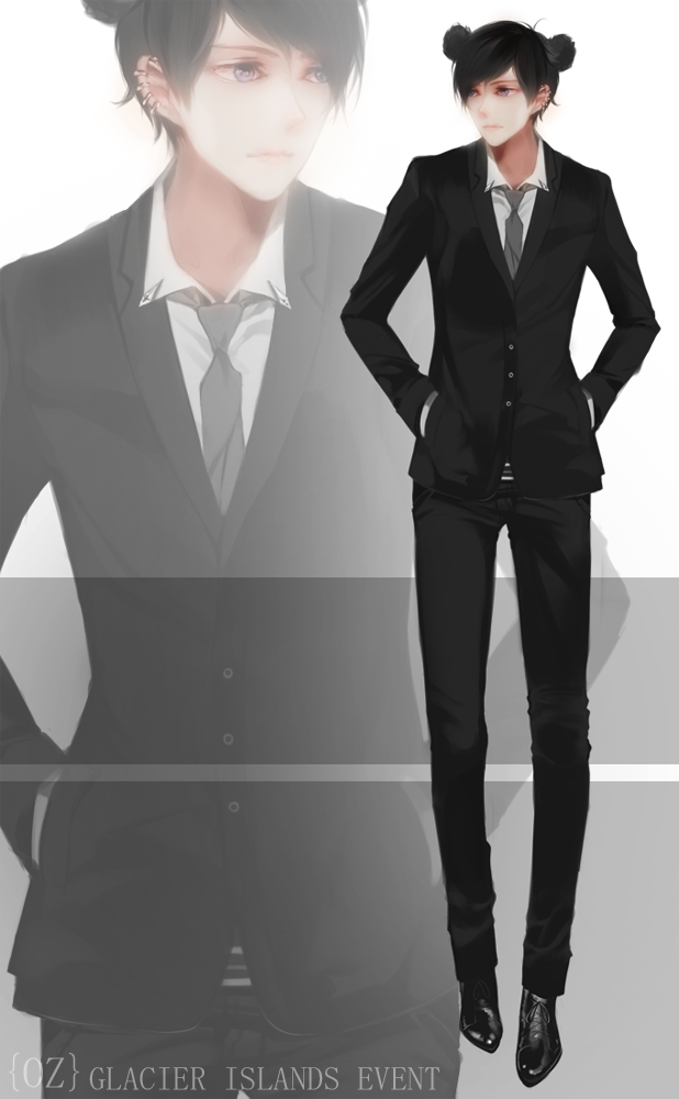 Anime Man In Suit Drawing