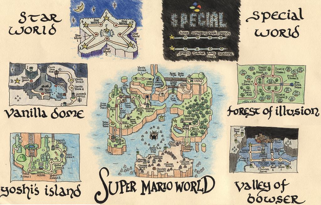 Super Mario World Map by CheeseInTheDark
