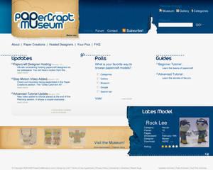 Papercraft Museum webdesign