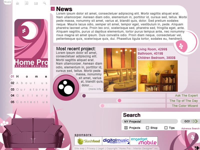 Home Pro website by LH310