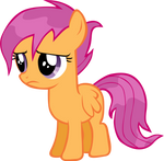 Scootaloo in the rain