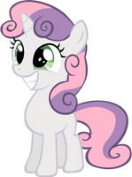 Sweetie Belle's happy by rhubarb-leaf