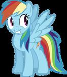 Happy Rainbow dash vector