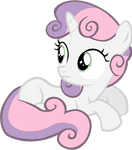 Sitting Sweetie Belle vector