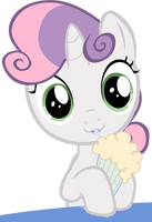 Sweetie belle and her milkshake :3 by rhubarb-leaf