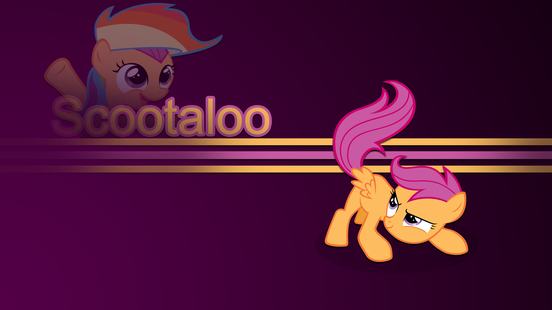 Scootaloo wallpaper by rhubarb-leaf
