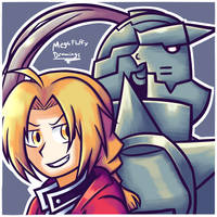 Edward and Alphonse Elric by MegaFluffy99