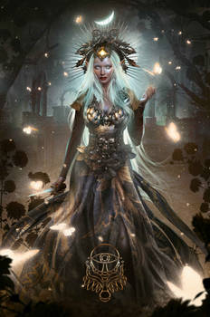 Dark Fantasy Book Cover Design - The Night Elf