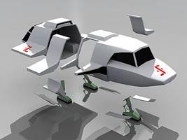 Fighter Shuttle from V by Greywolf-Starkiller