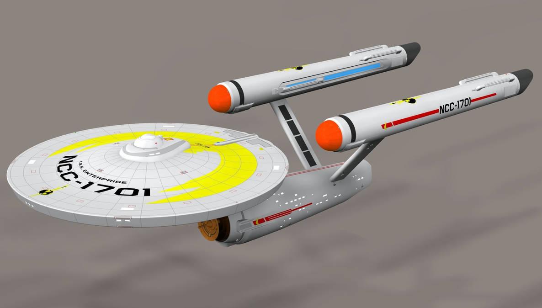 ISS Enterprise in Poser 7 by Greywolf-Starkiller