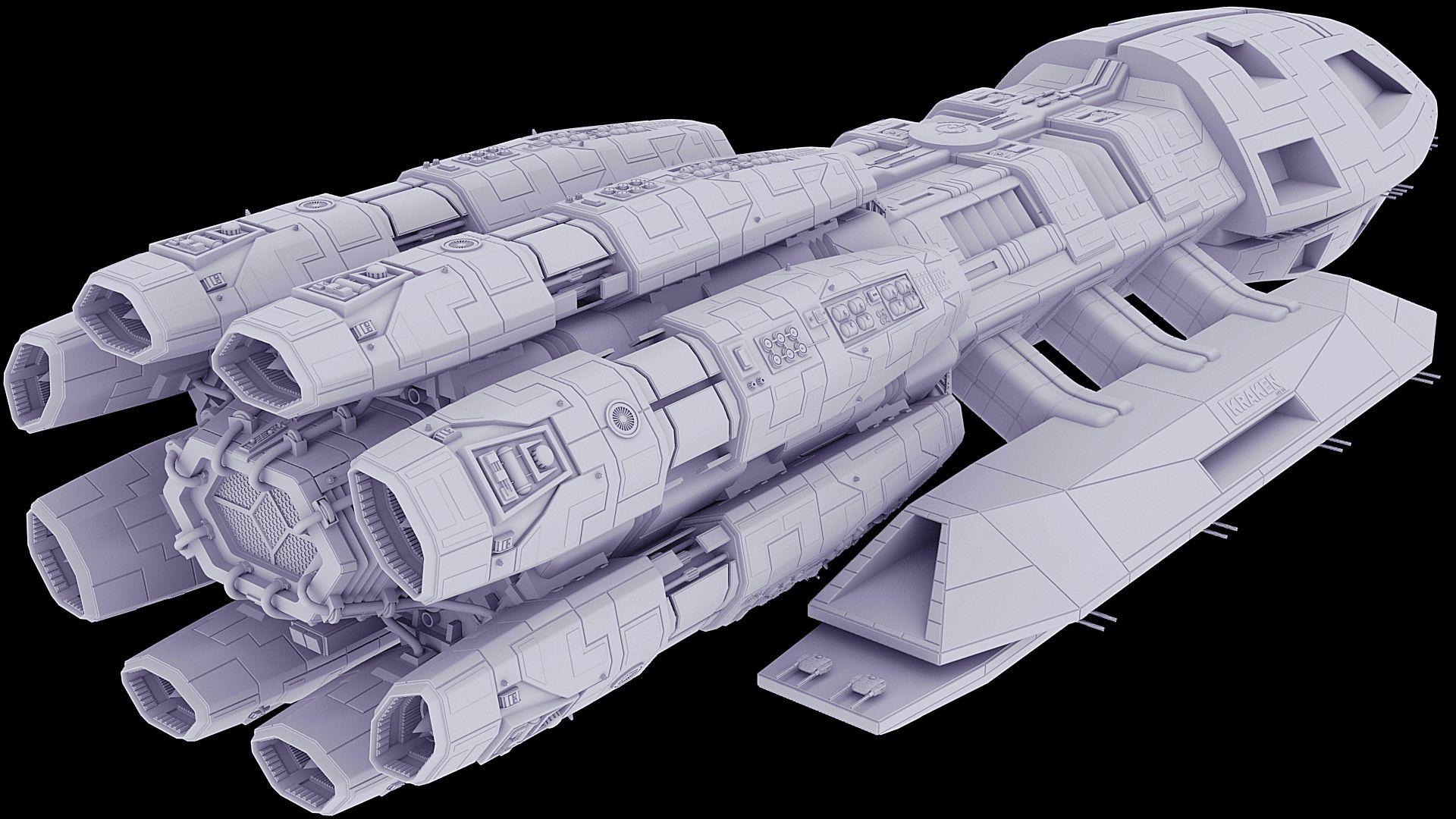F3D-Kraken 26d - Detailing the Midsection Complete by Greywolf-Starkiller