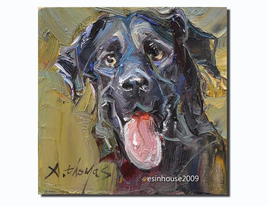Black Dog 15x15cm by esinhouse2009