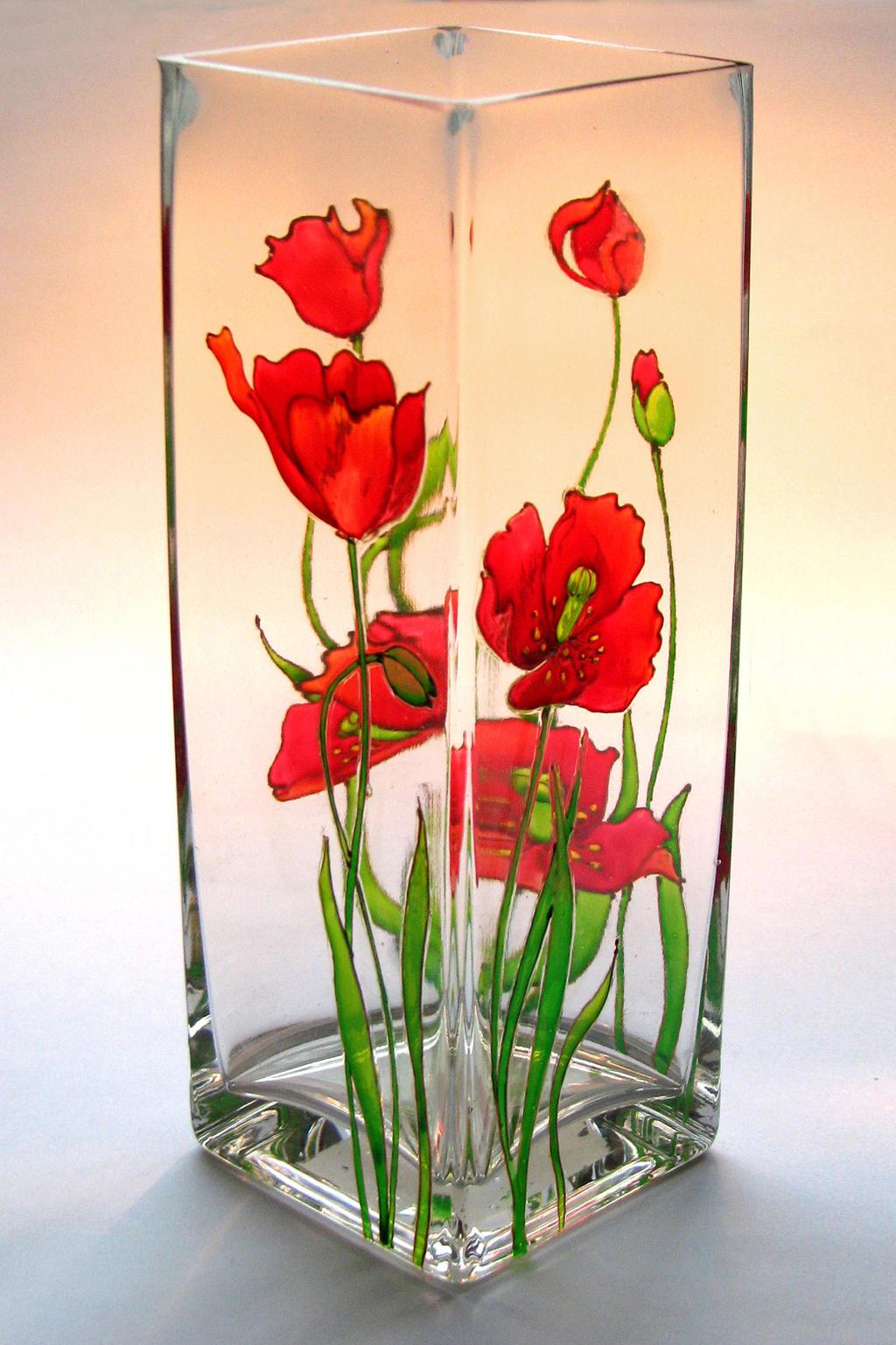 Рисовать по стеклу цветы