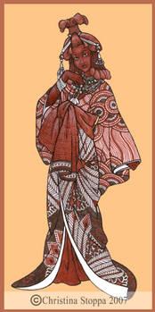 Mukubal Kimono by Qiu-Ling
