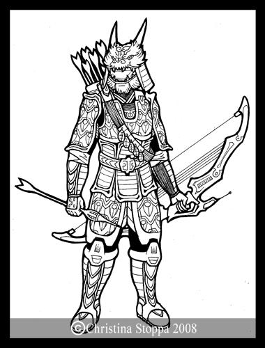 Samurai Chief by Qiu-Ling