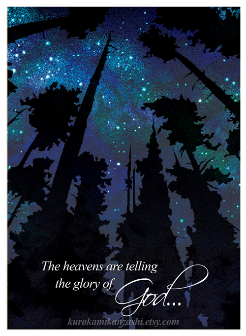 The Heavens are Telling the Glory of God by Qiu-Ling