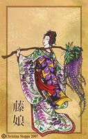 Fuji Musume by Qiu-Ling