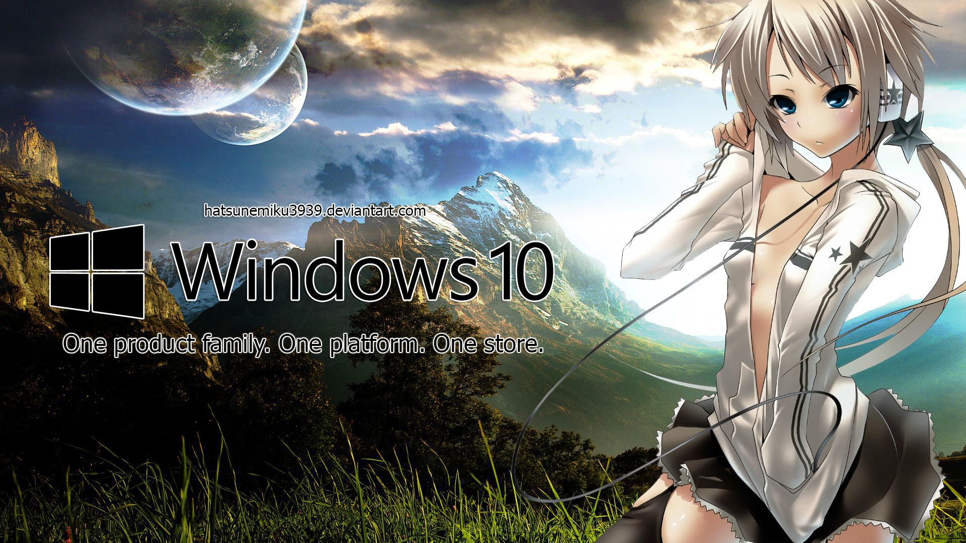 Windows 10 Anime Wallpaper By Hatsunemiku3939 On Deviantart