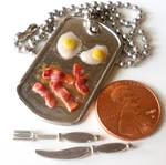 Miniature BREAKFAST necklace by LittleCalorieGallery