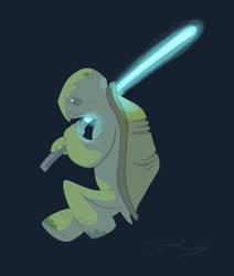Jedi Turtle by Sarbear12112