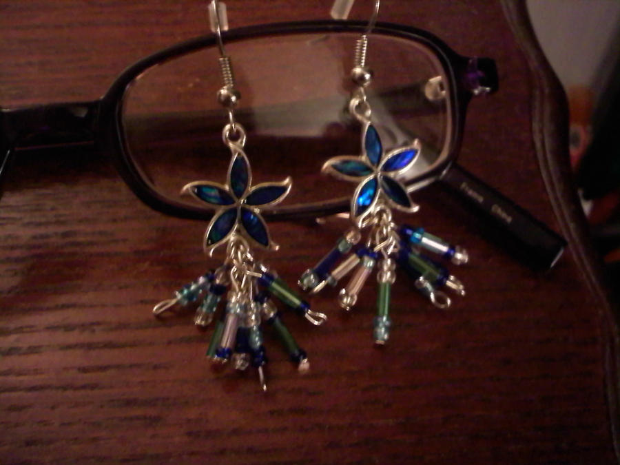 Flower Multi Charm Earrings by EllasDesigns