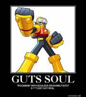 MegaMan Guts Soul Poster by eeeeeeeyyyyyy