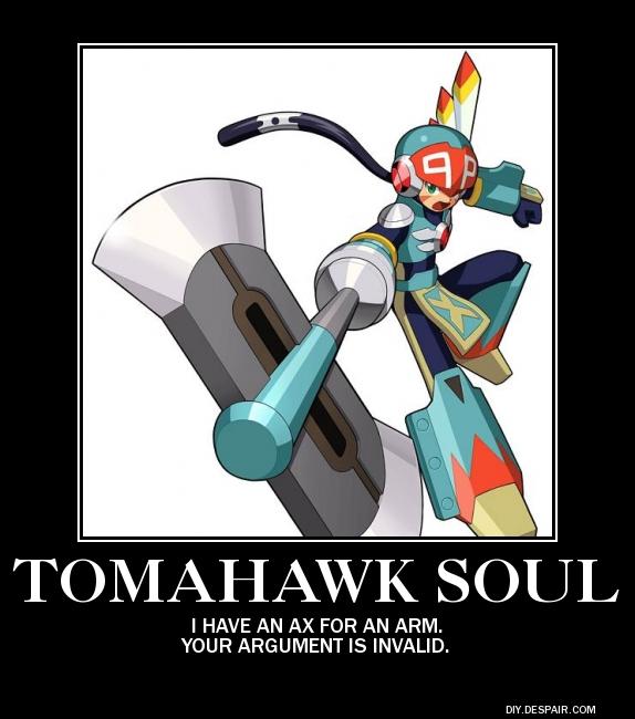 MegaMan Tomahawk Soul Poster by eeeeeeeyyyyyy