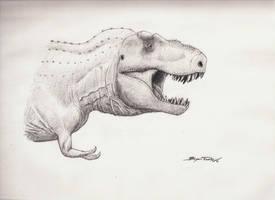 Tyrannosaurus rex by DinoHunter000