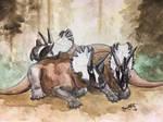 Resting Wendiceratops