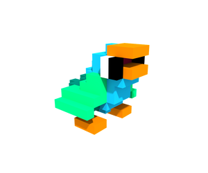 Popu the Parrot - Voxel