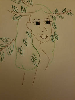 tree lady #inktober#