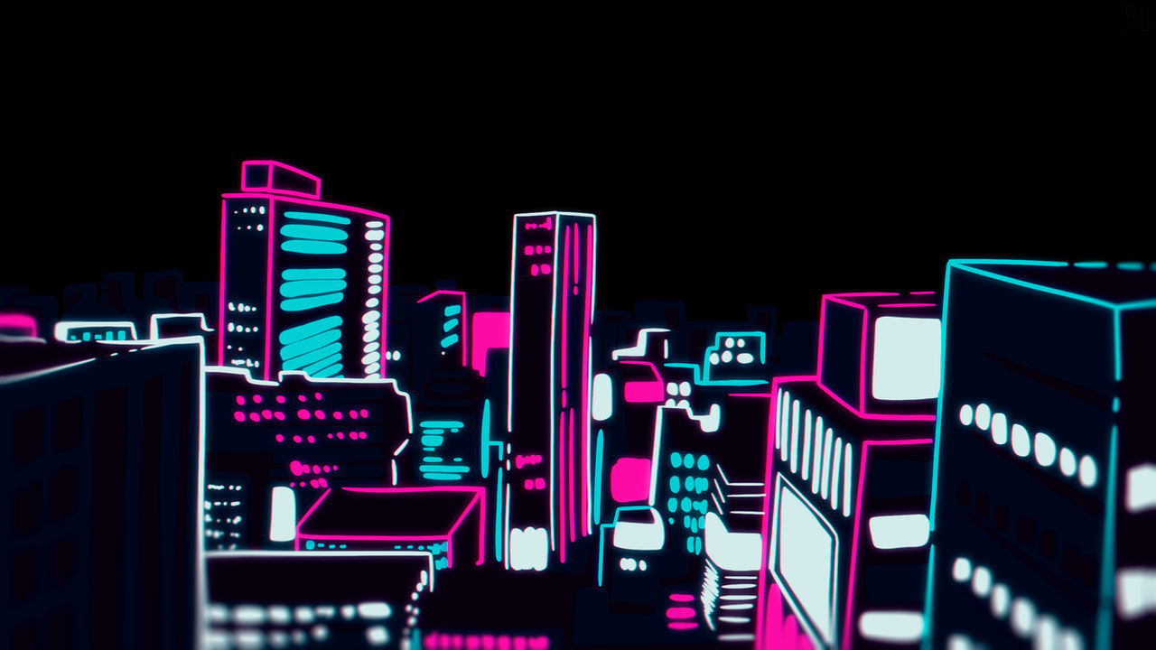 Mob Psycho 100 Wallpaper (opening style of city)
