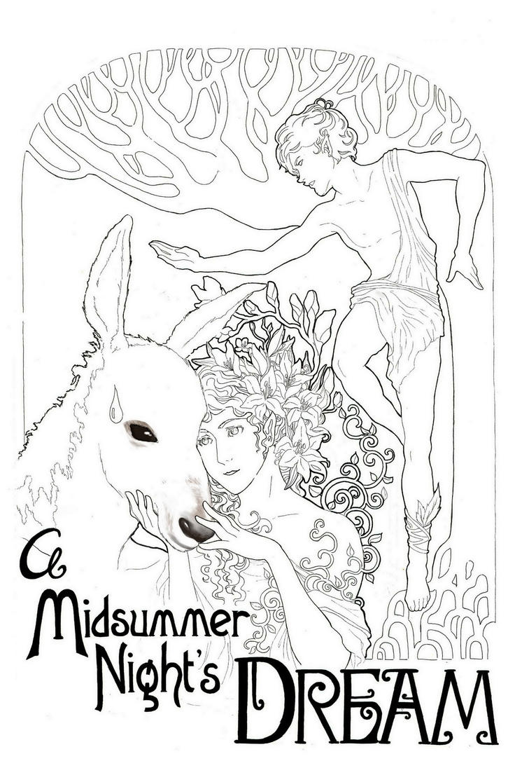 midummer nights dream coloring pages - photo#23