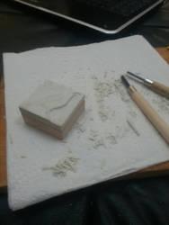magpie stamp in progress