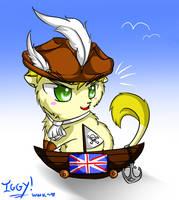 Pirate England kitty by Whitewolfkitsune