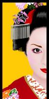 A geisha in half by Akseru