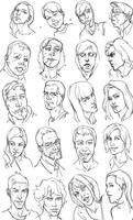 Head Studies by Guts-N-Effort
