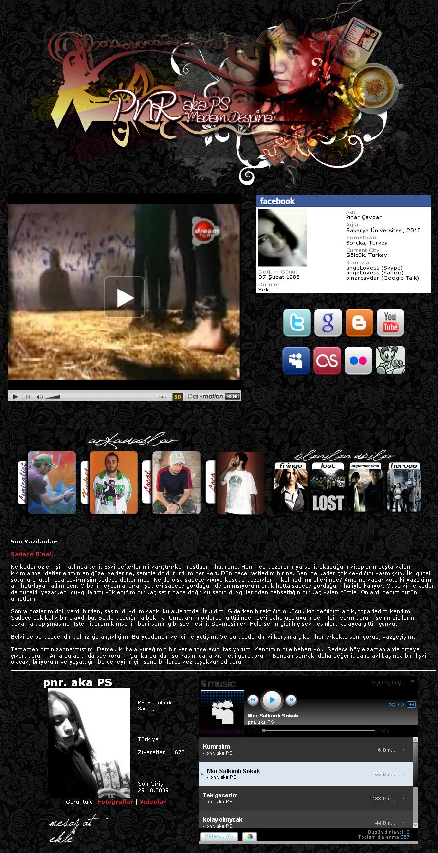 Myspace Tema Çalışmalarım