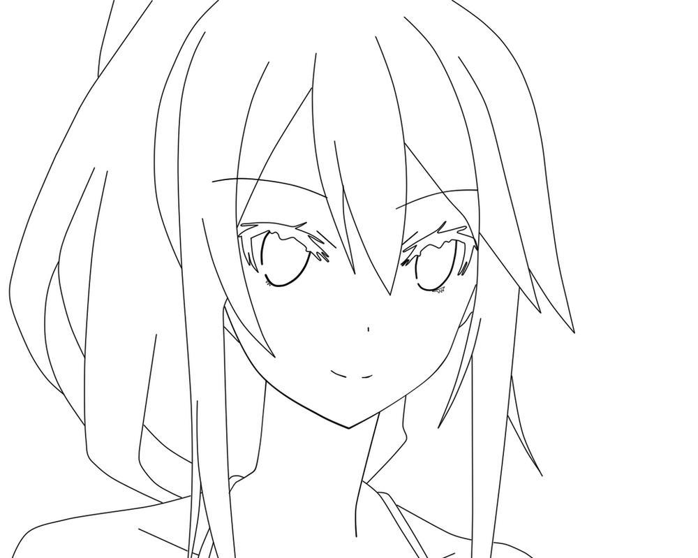 Line Art Anime : Anime girl lineart by msaishakristine on deviantart